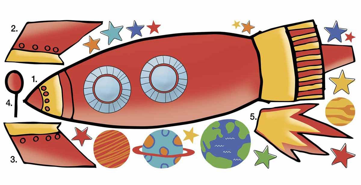 картинка ракеты из картона переводе