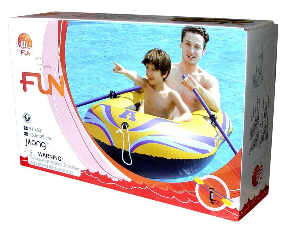 лодка надувная jilong fishman 350 set с веслами и насосом